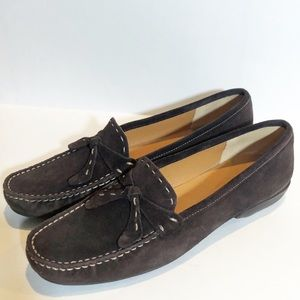 Talbots brown leather loafers